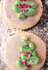 close up de dois biscoitos amanteigados