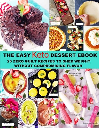 The easy keto dessert ebook cover