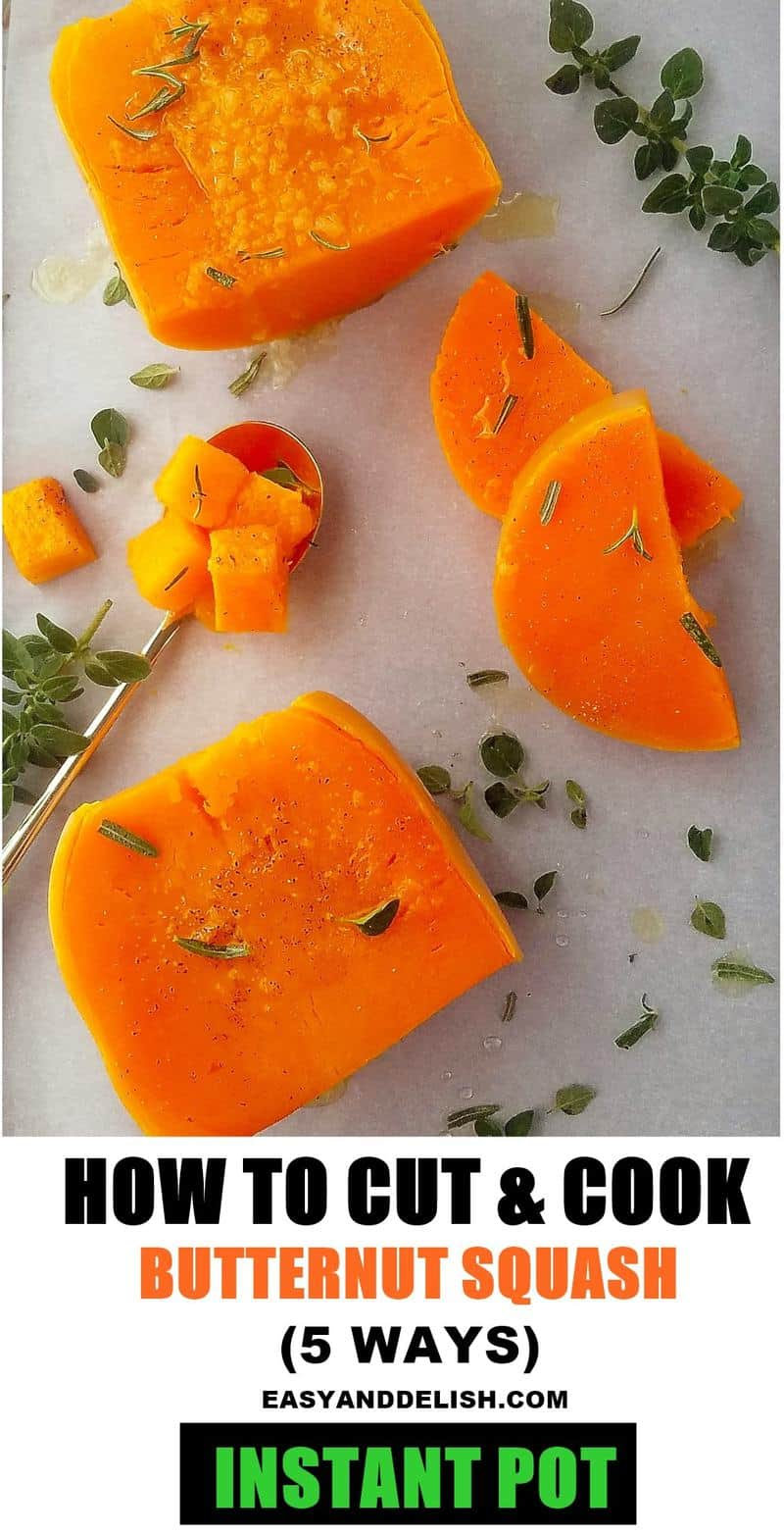 a tray with butternut squash cooked in the Instant Pot