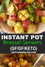 collage of Instant Pot Brussels Sprouts