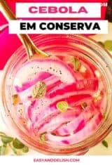 CLOSE UP DE CEBOLA EM CONSERVA