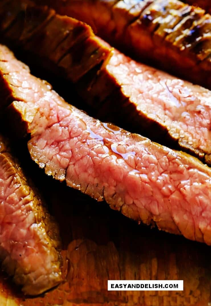 close of a sliced meat