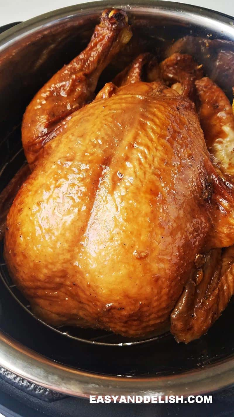 a whole chicken cooked in the pressure cooker