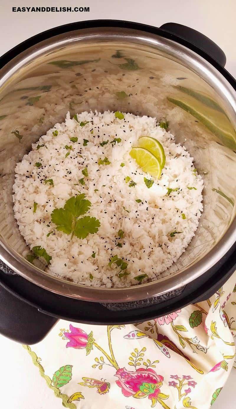 arroz basmati na panela de pressão