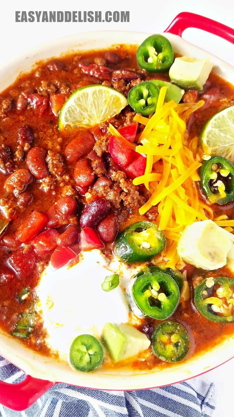 close up of Instant Pot Chili