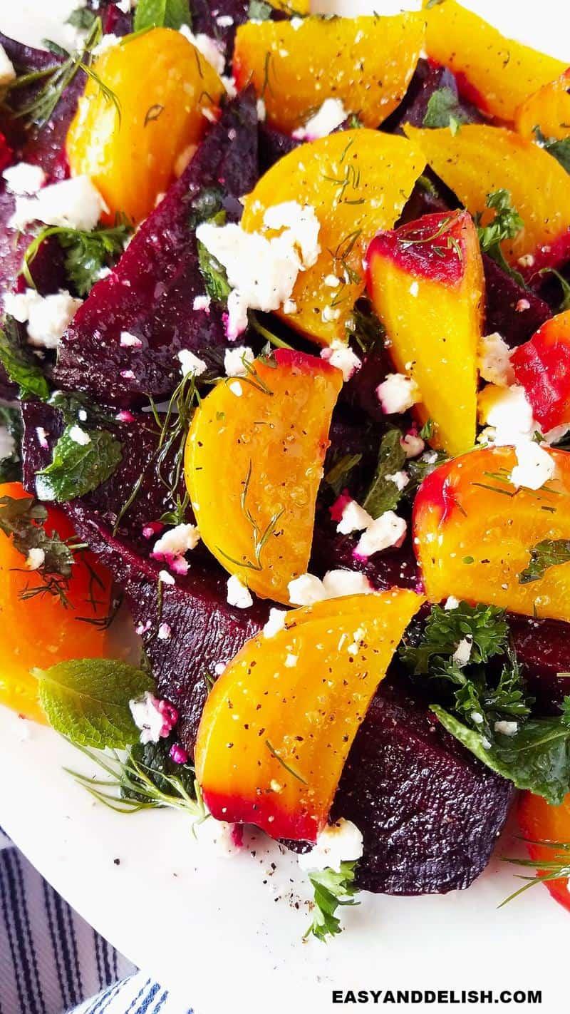 close up of veggie dish
