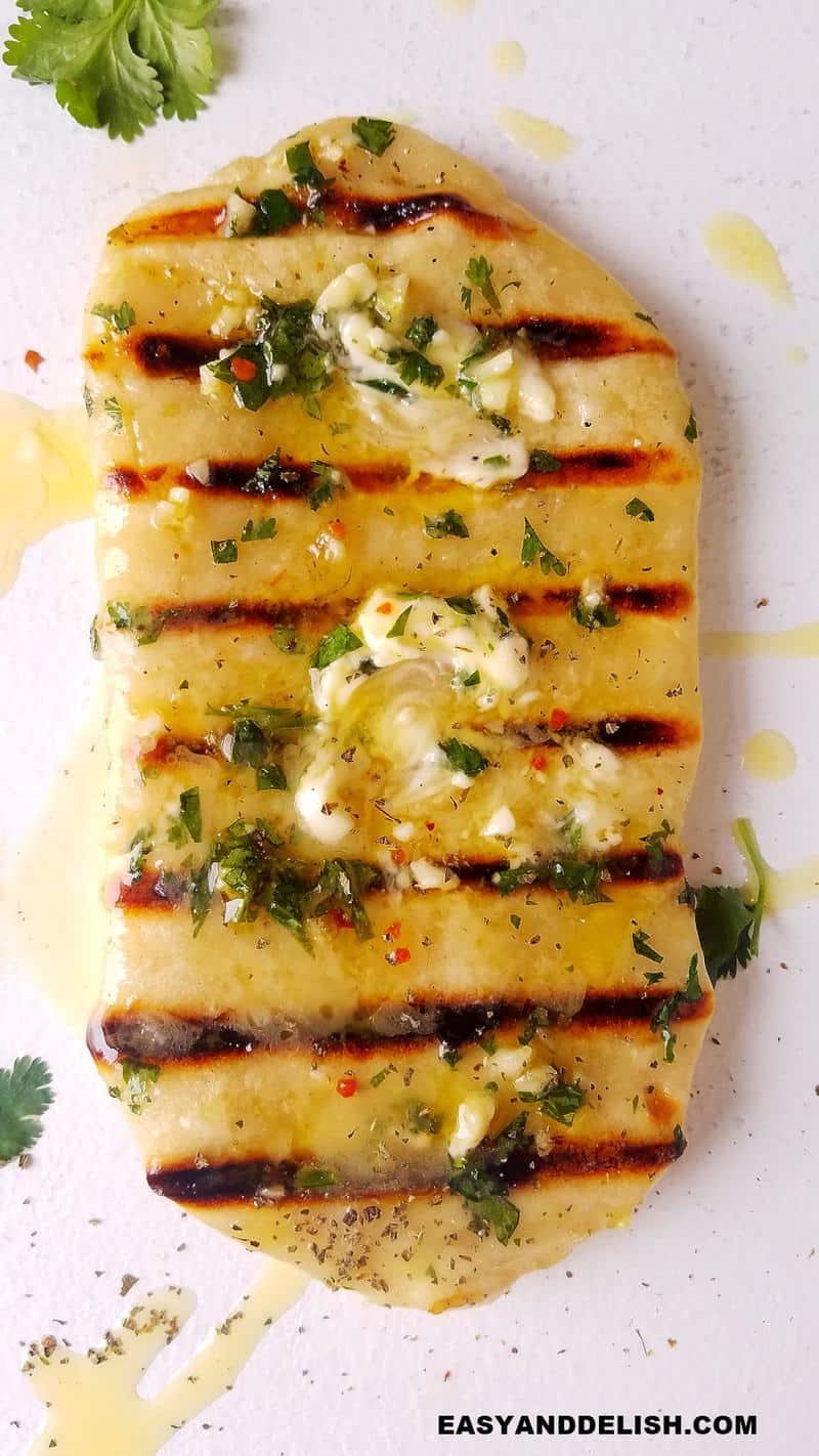 close up de pão de frigideira