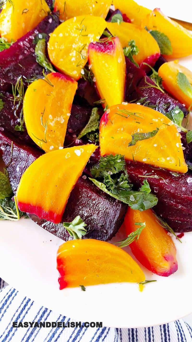 vegetais cozidos em um prato