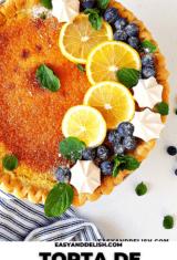 torta de limão fácil decorada
