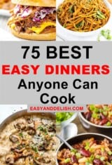 photo collage with easy dinner ideas