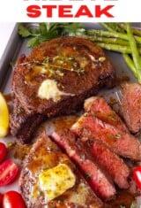 air fryer steak in a platter