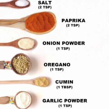 chart with homemade keto taco seasoning recipe