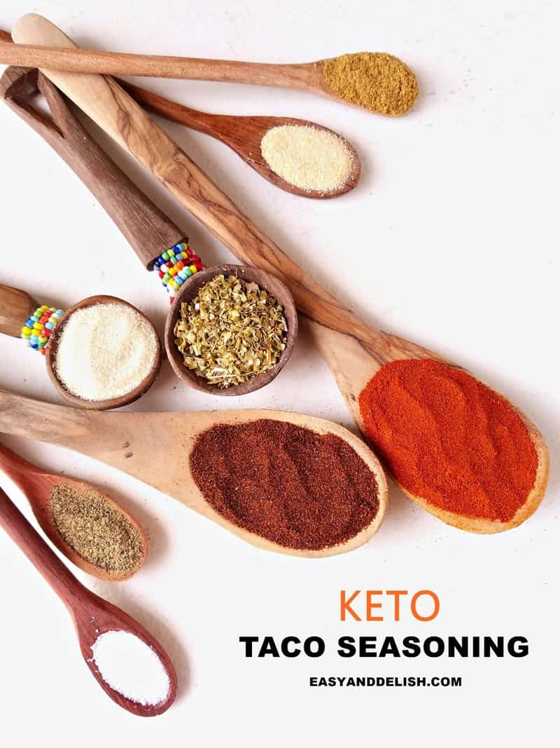 spoons with taco spices in them