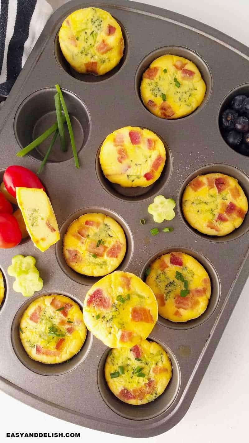 egg muffins in a muffin tin