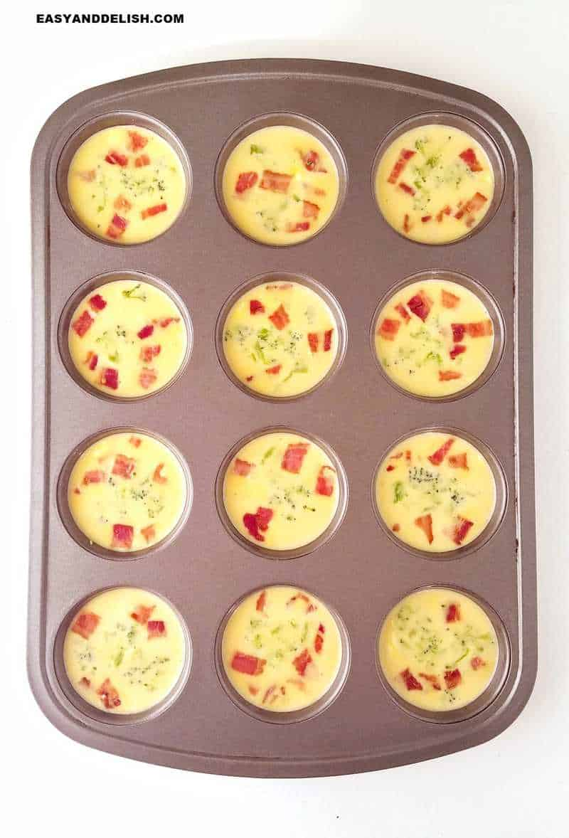mixture in a tin before baking