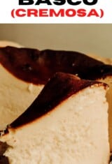 fatia de cheesecake basco