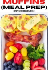 lunch box with keto egg muffins