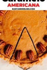 torta de caramelo americana