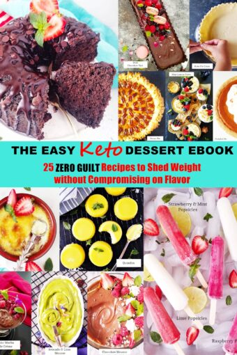 Easy Keto Dessert ebook with 25 recipes